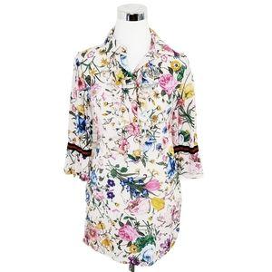 Flavio Castellani Silk Floral Dress Size 42